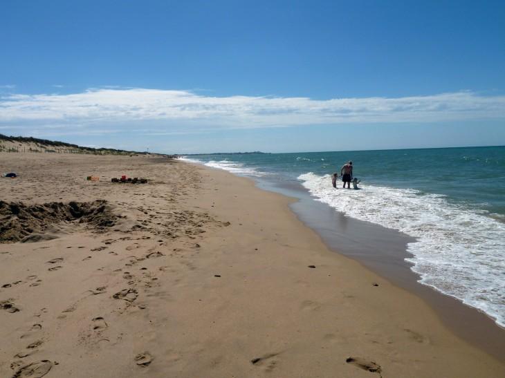 The beach near Les Ecureuils