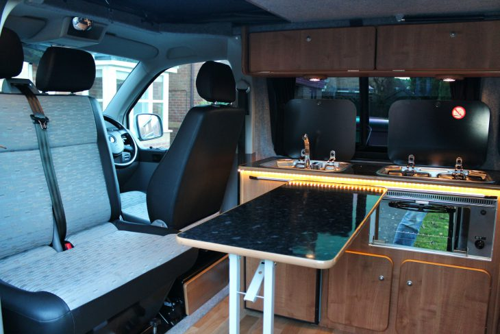 VW T5 Front seats and table