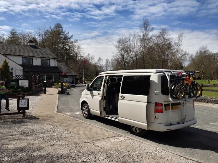 Arriving at Windermere Campsite