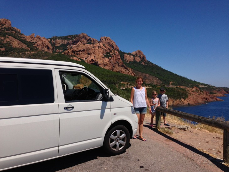 Driving the T5 along the coast touring the South of France