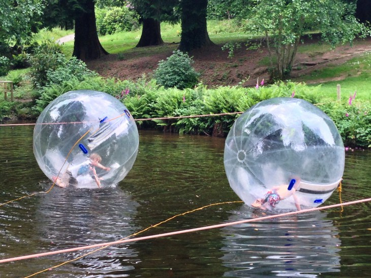Water Zorbs at River Dart Country Park