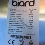 Biard Sepecifications 100w