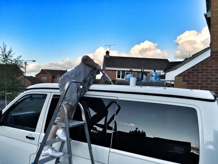 Sealing the panel