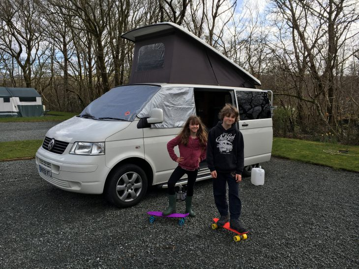 Penny Boards at Coed-Y-Llwyn Caravan Club Site