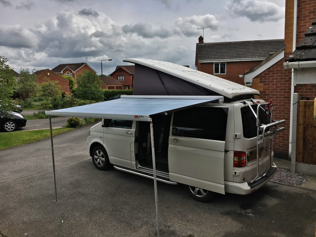 Fitting a Fiamma F45s awning to T5 Transporter