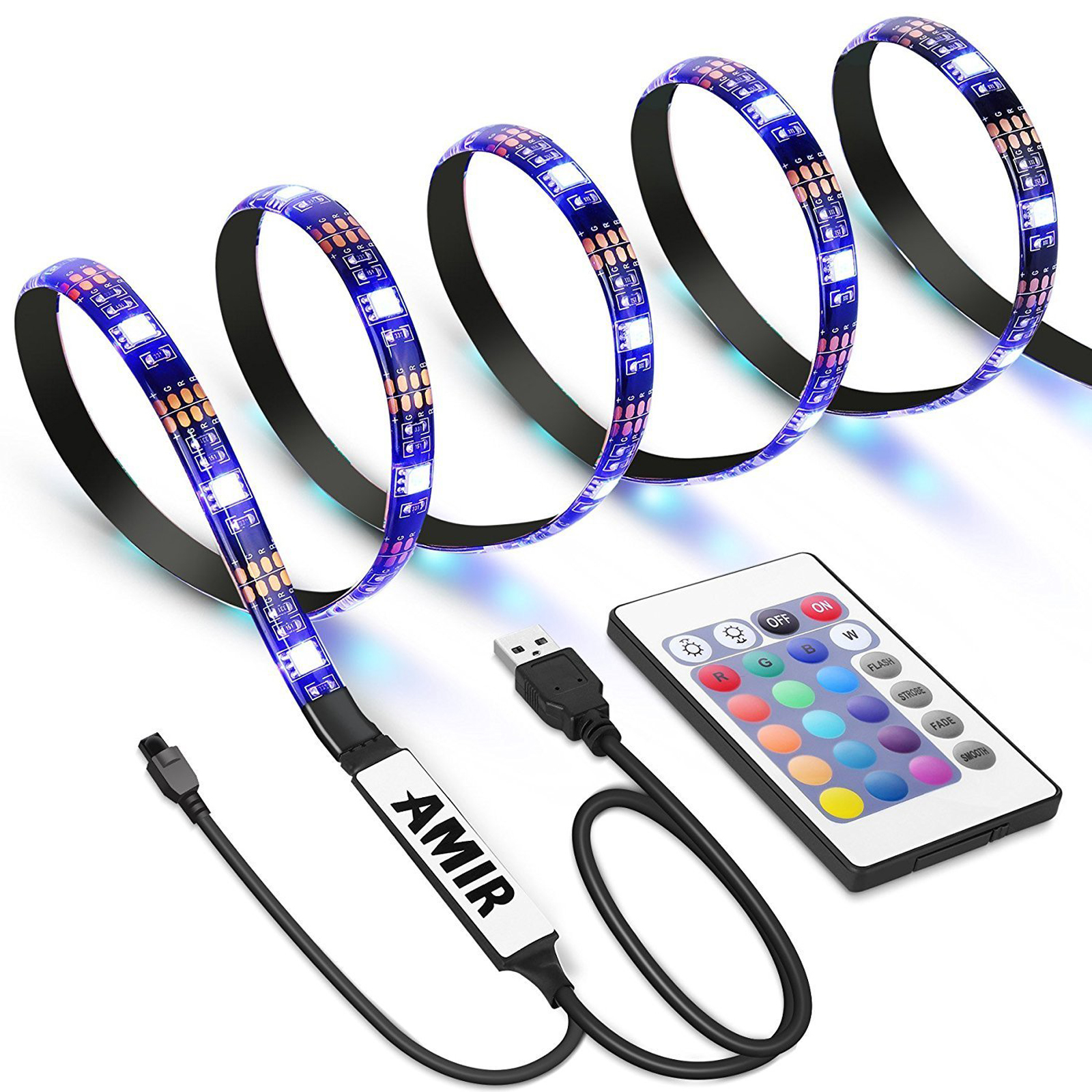 Cheap Led Lighting For The Campervan Volkscamper Wiring Lights To Leisure Battery Installation Is Simple With Strip Using A Strong 3m Double Sided Adhesive That Just Pushes Into Place Remote Needs Have Sight Of Ir